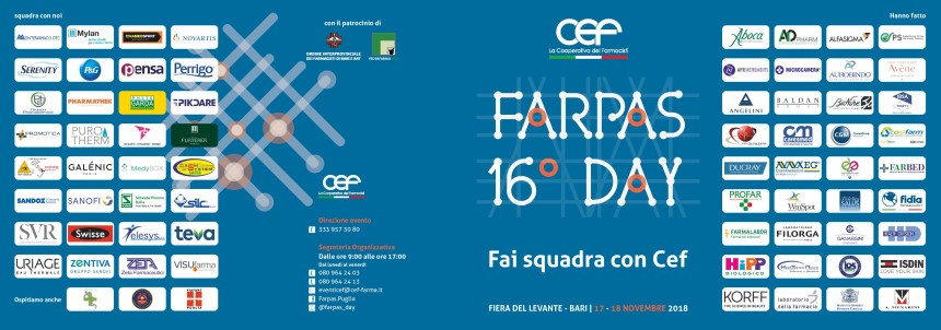 Calendario Fiera Del Levante.Xvi Farpas Day 17 E 18 Novembre 2018 Telesys